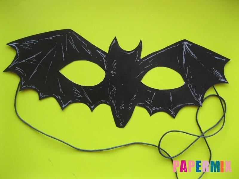 Маска летучей мыши на хэллоуин из бумаги своими руками - шаг 7