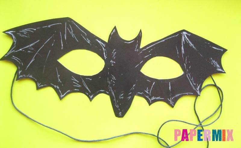 Как сделать маску летучей мыши на хэллоуин из бумаги своими руками