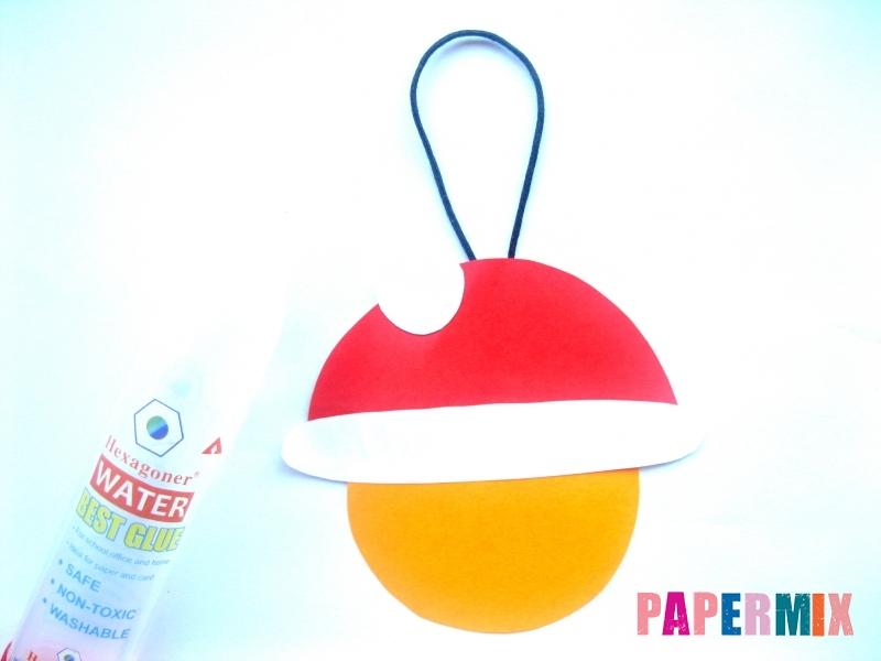 Новогодняя игрушка Дед Мороз из бумаги своими руками - шаг 4