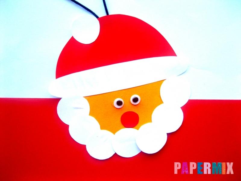 Новогодняя игрушка Дед Мороз из бумаги своими руками - шаг 7