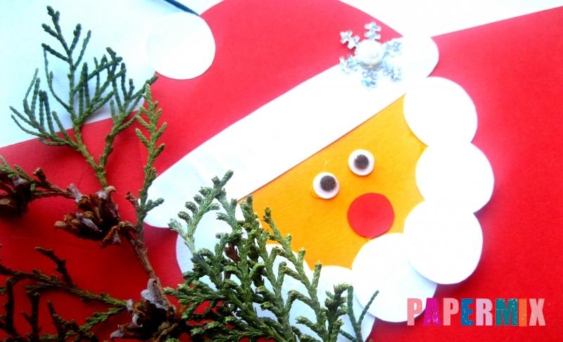 Как сделать игрушку в виде Деда Мороза из бумаги своими руками