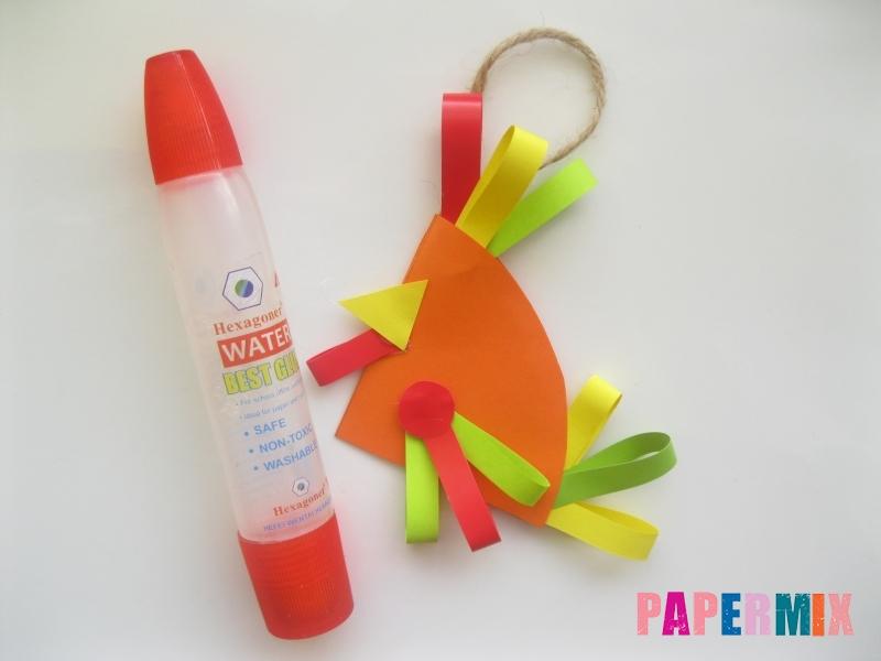 Новогодняя игрушка петух из бумаги своими руками - шаг 10