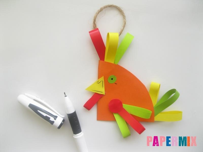 Новогодняя игрушка петух из бумаги своими руками - шаг 11