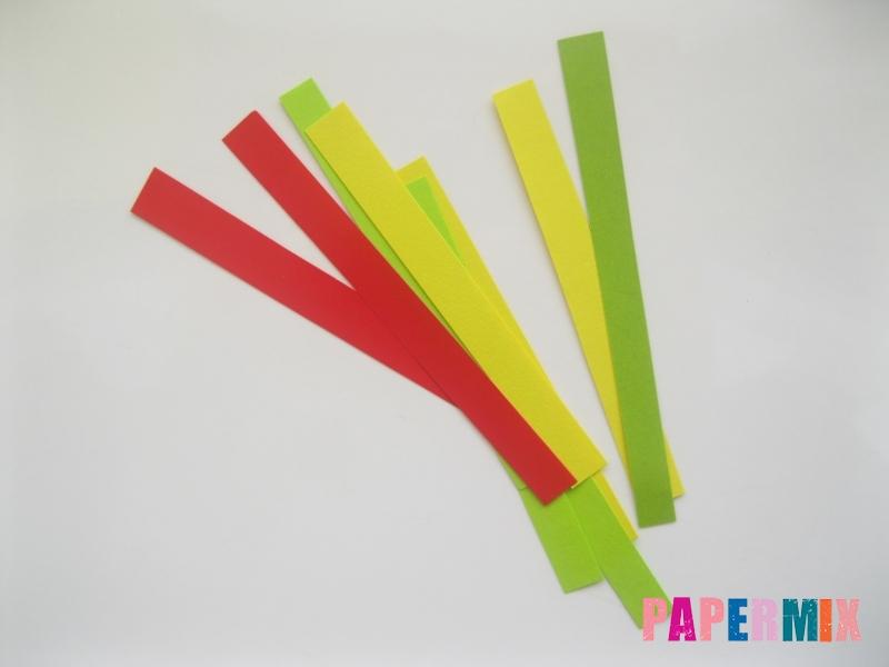 Новогодняя игрушка петух из бумаги своими руками - шаг 4