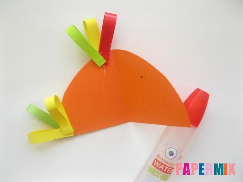 Новогодняя игрушка петух из бумаги своими руками - шаг 6