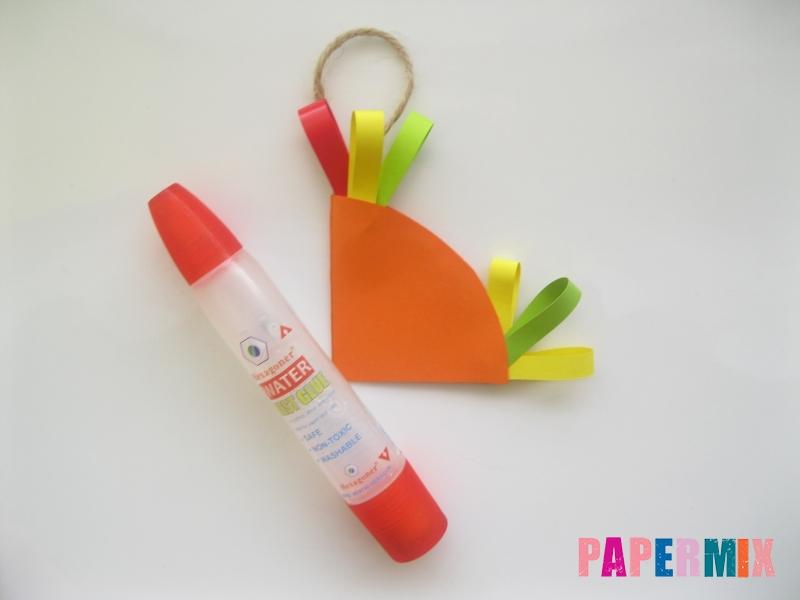 Новогодняя игрушка петух из бумаги своими руками - шаг 8