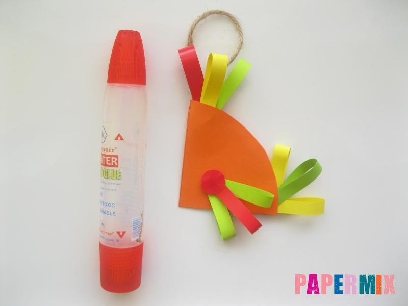 Новогодняя игрушка петух из бумаги своими руками - шаг 9