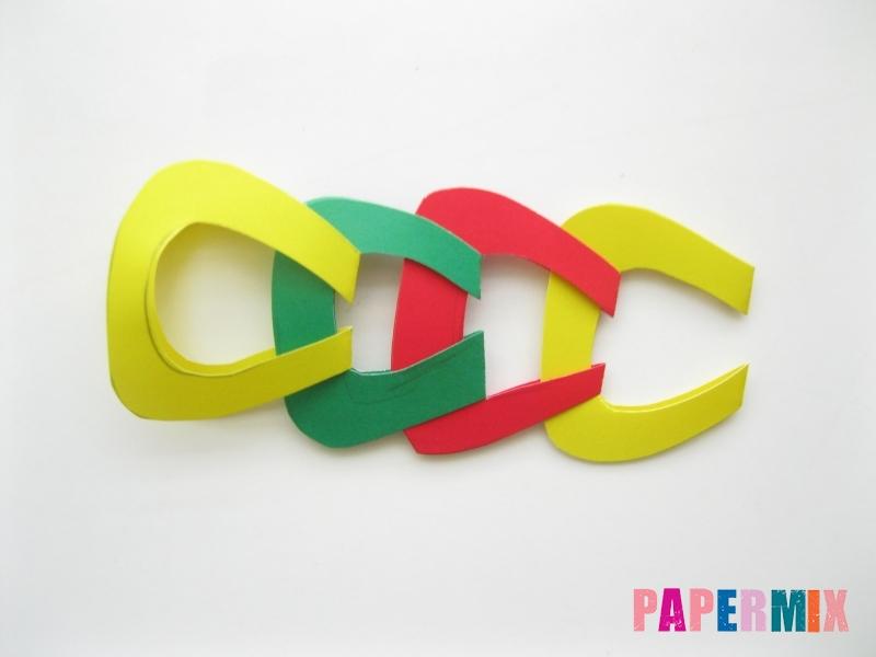 Новогодняя гирлянда из разноцветных звеньев своими руками - шаг 8