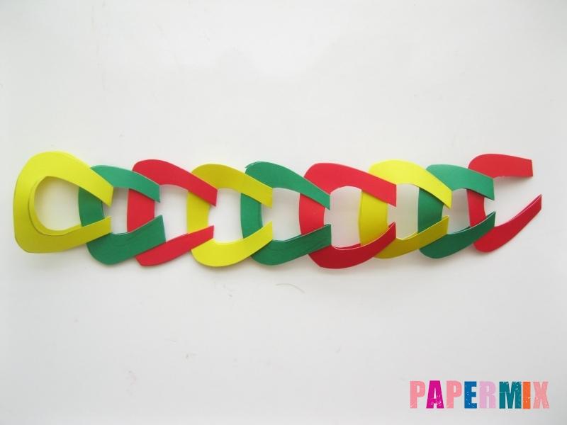 Новогодняя гирлянда из разноцветных звеньев своими руками - шаг 9