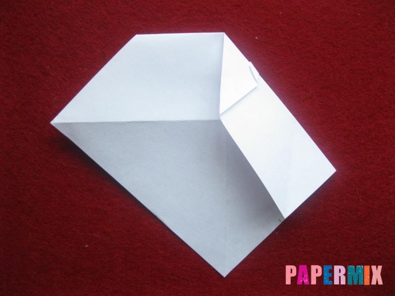 Оригами снеговик из бумаги своими руками - шаг 12