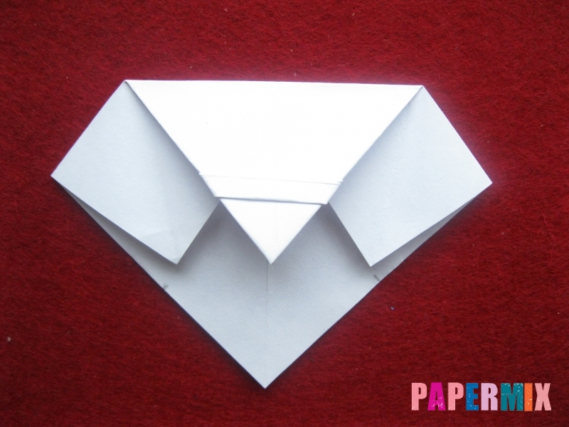 Оригами снеговик из бумаги своими руками - шаг 14