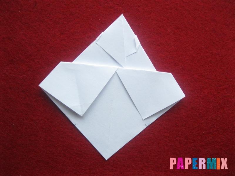 Оригами снеговик из бумаги своими руками - шаг 16