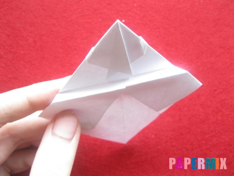 Оригами снеговик из бумаги своими руками - шаг 17