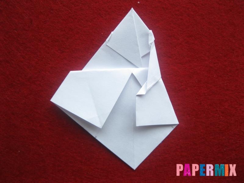 Оригами снеговик из бумаги своими руками - шаг 18