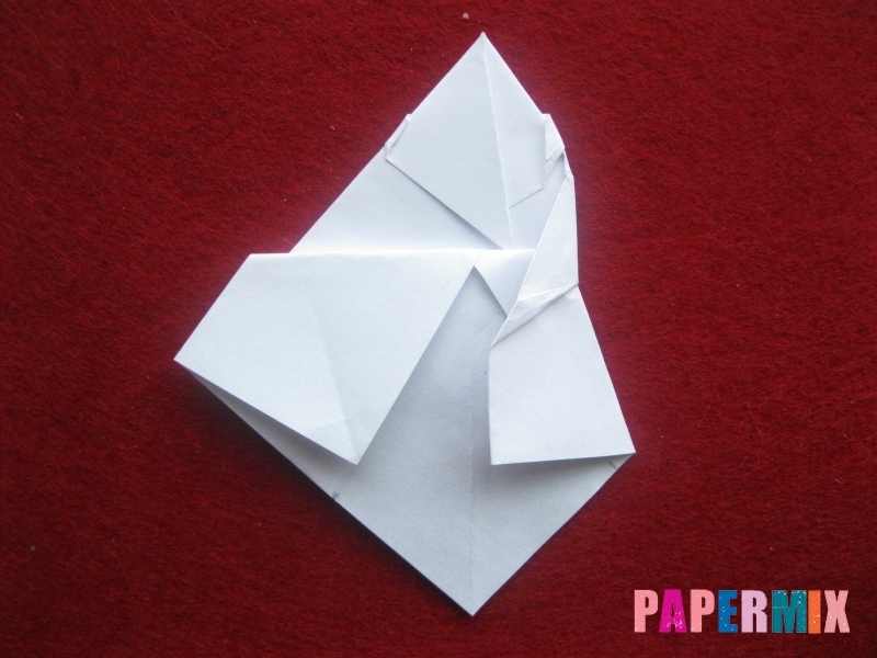 Оригами снеговик из бумаги своими руками - шаг 19