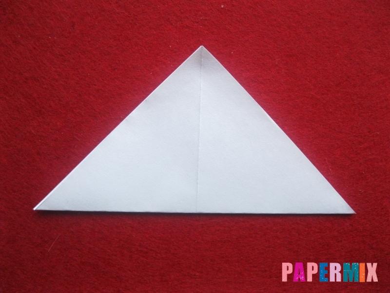 Оригами снеговик из бумаги своими руками - шаг 2