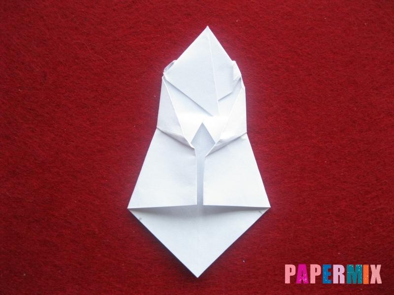 Оригами снеговик из бумаги своими руками - шаг 20
