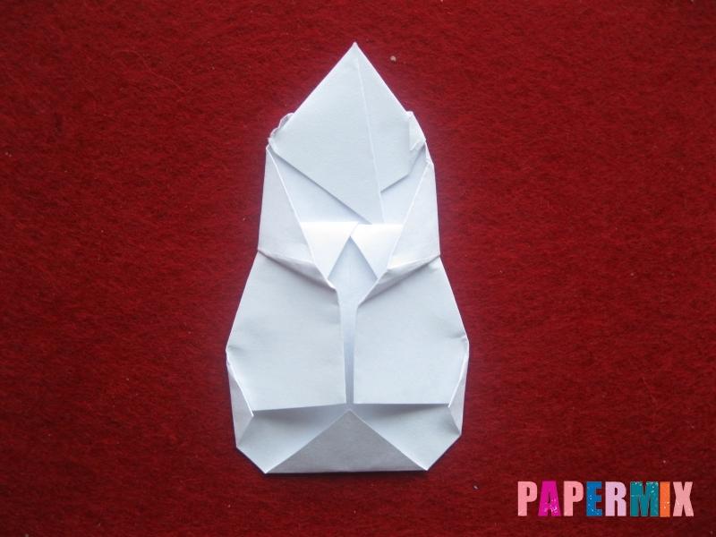 Оригами снеговик из бумаги своими руками - шаг 22