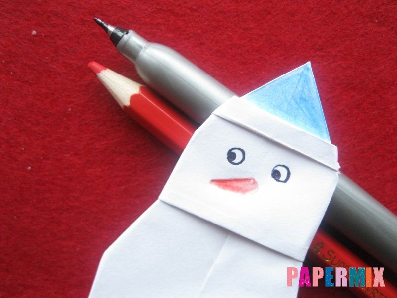 Оригами снеговик из бумаги своими руками - шаг 25