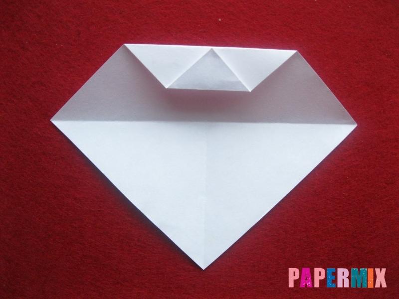 Оригами снеговик из бумаги своими руками - шаг 5
