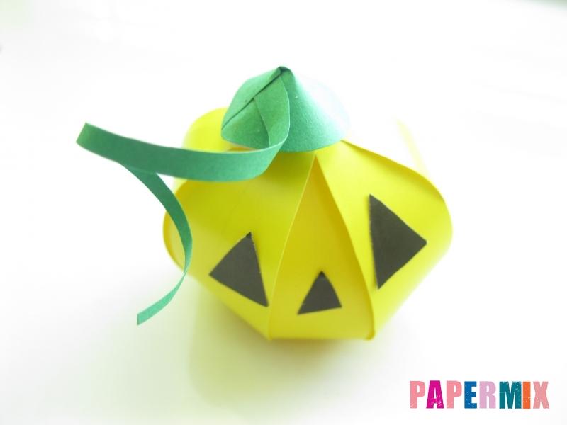 Тыква из бумаги на хэллоуин своими руками - шаг 17