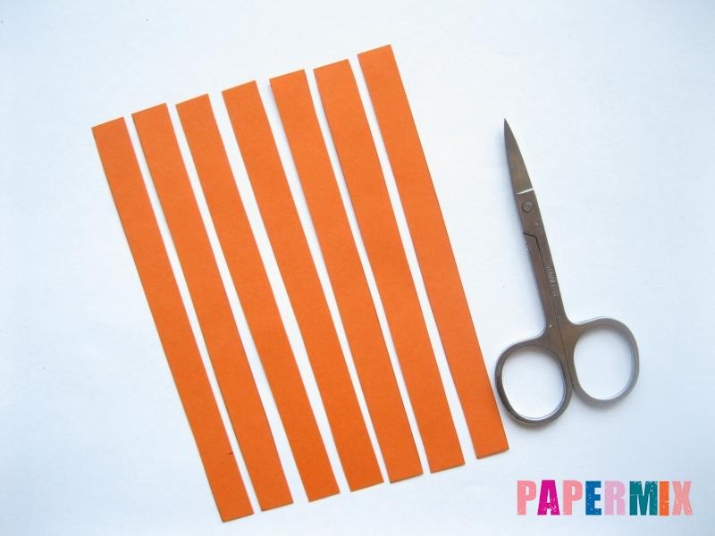 Как легко сделать хризантему из бумаги поэтапно - шаг 1