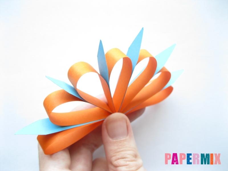 Как легко сделать хризантему из бумаги поэтапно - шаг 7
