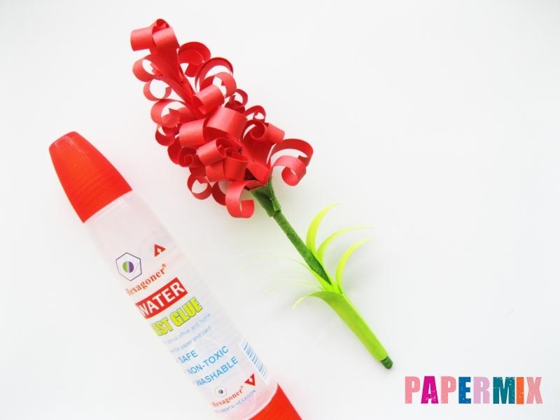 Как сделать цветы гиацинты из цветной бумаги поэтапно - шаг 13