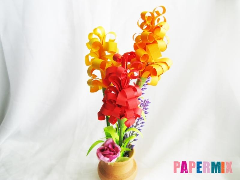 Как сделать цветы гиацинты из цветной бумаги поэтапно - шаг 14