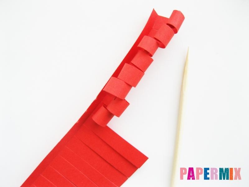Как сделать цветы гиацинты из цветной бумаги поэтапно - шаг 5