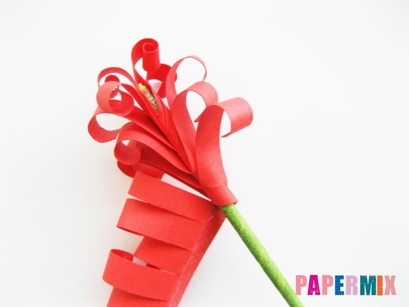 Как сделать цветы гиацинты из цветной бумаги поэтапно - шаг 7