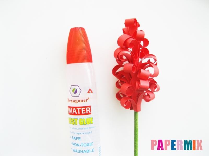 Как сделать цветы гиацинты из цветной бумаги поэтапно - шаг 8
