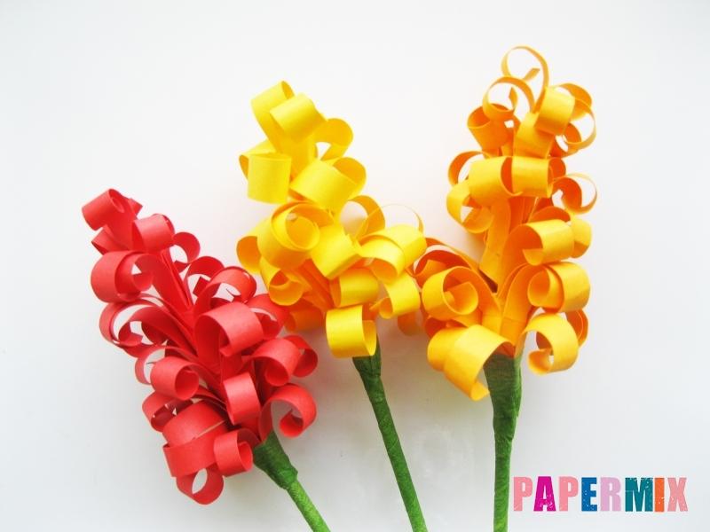 Как сделать цветы гиацинты из цветной бумаги поэтапно - шаг 9