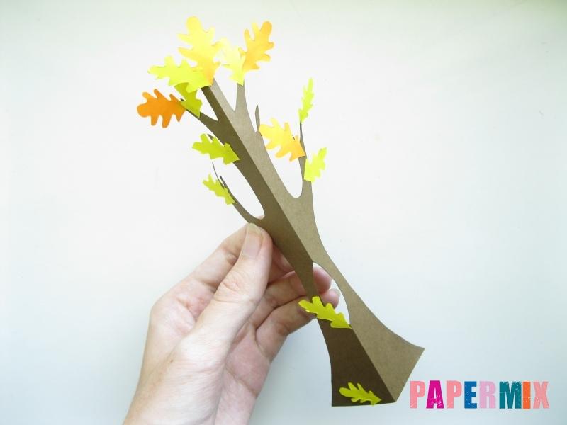 Как сделать дуб из бумаги своими руками - шаг 8