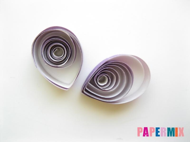 Как сделать фиалки из бумаги поэтапно - шаг 11