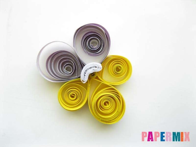 Как сделать фиалки из бумаги поэтапно - шаг 13