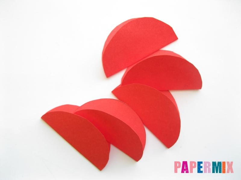 Как сделать гвоздику из цветной бумаги поэтапно - шаг 3