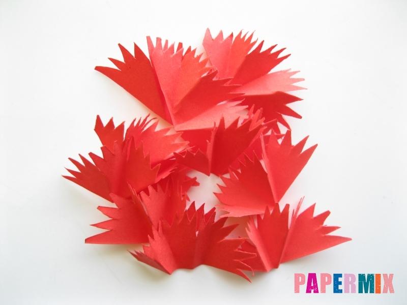 Как сделать гвоздику из цветной бумаги поэтапно - шаг 8