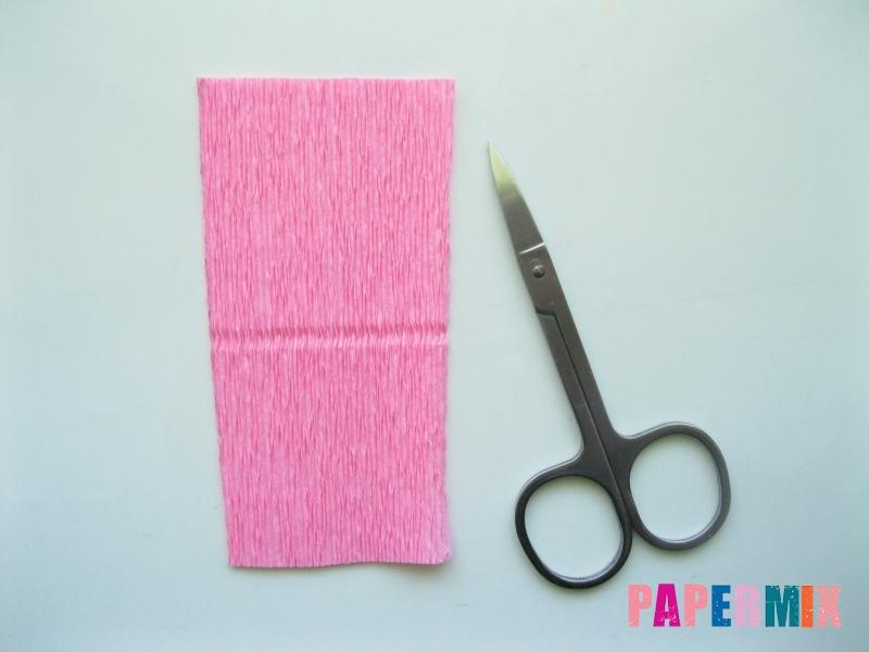Как сделать лилию из гофрированной бумаги своими руками - шаг 9