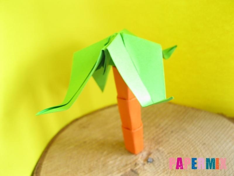 Как сделать пальму из бумаги (оригами) поэтапно - шаг 20