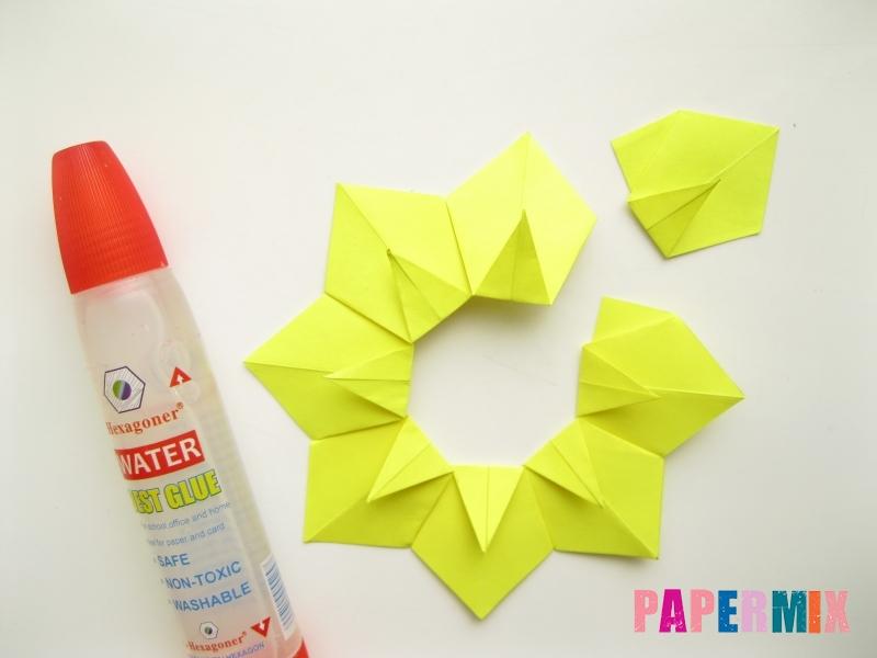 Как сделать подсолнух (оригами) своими руками - шаг 11