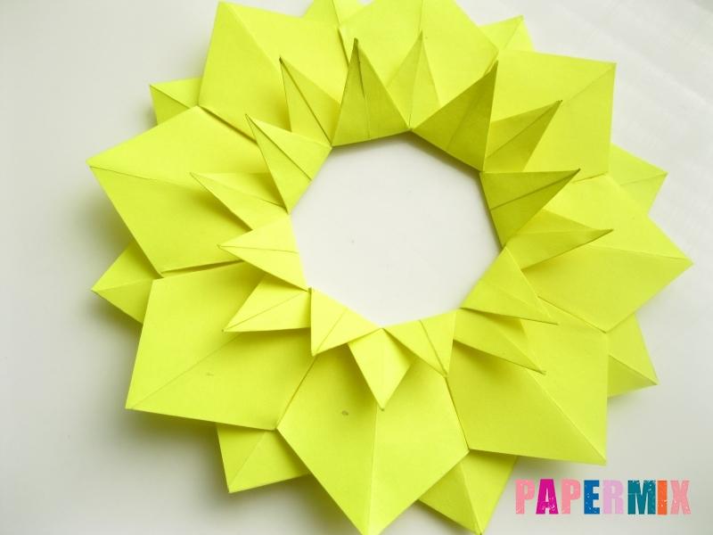 Как сделать подсолнух (оригами) своими руками - шаг 14
