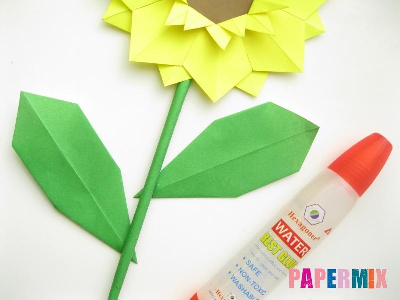 Как сделать подсолнух (оригами) своими руками - шаг 25