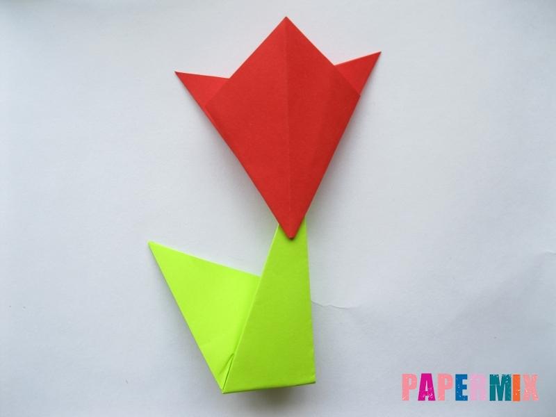 Как сделать простой тюльпан из бумаги поэтапно - шаг 17