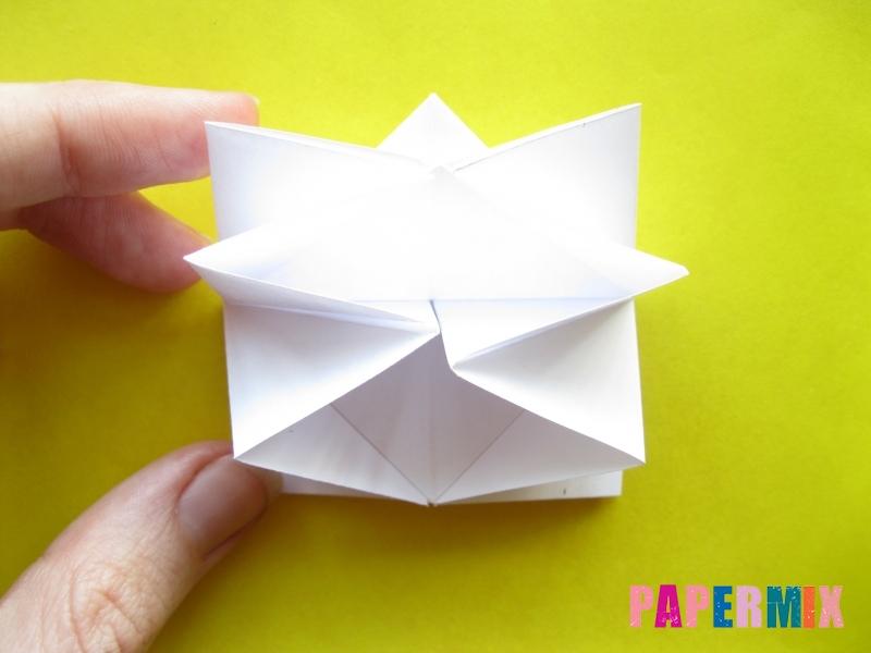 Как сделать розу из бумаги (оригами) поэтапно - шаг 14