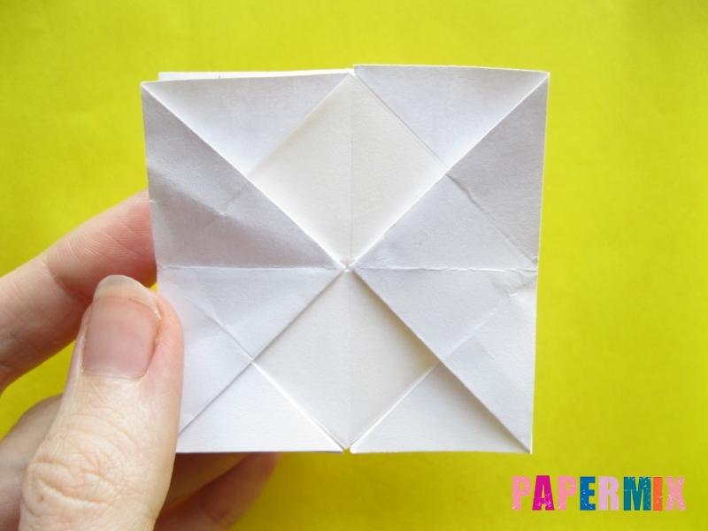 Как сделать розу из бумаги (оригами) поэтапно - шаг 15