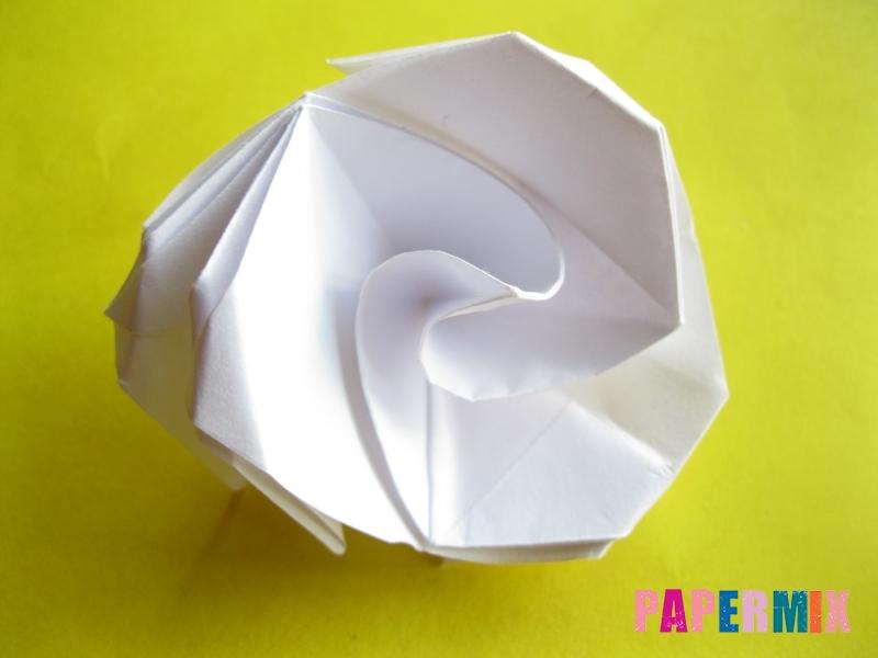 Как сделать розу из бумаги (оригами) поэтапно - шаг 20
