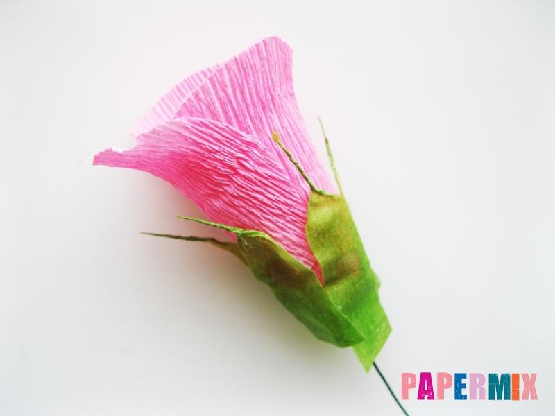 Как сделать розу из гофрированной бумаги поэтапно - шаг 14