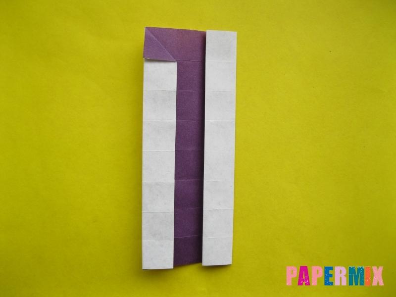 Как сделать цифру 1 из бумаги (оригами) своими руками - шаг 12