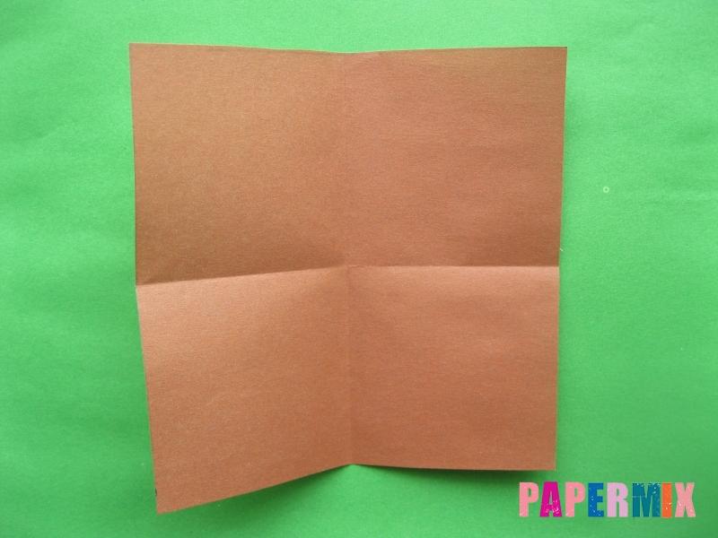 Как сделать цифру 3 из бумаги (оригами) своими руками - шаг 1